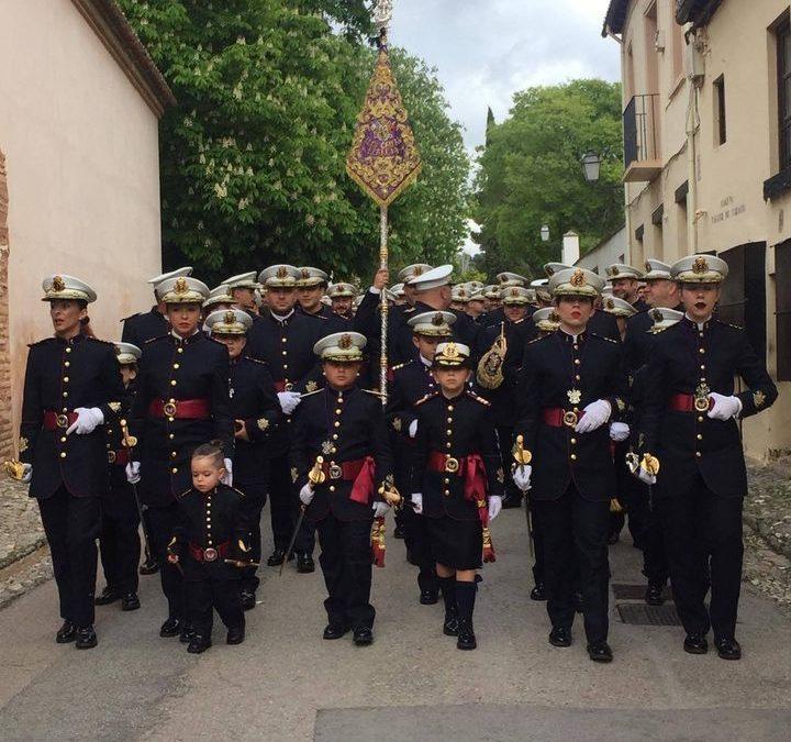 Donación de trajes, instrumentos y guión a la Banda de CCTT Tres Caídas del Realejo.