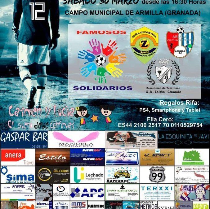 Manuela Fundación con el Torneo benéfico Famosos Solidarios.